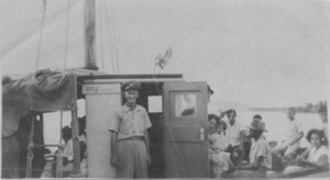 "Capt. Edward Anslyn who for many years ferried passengers between Nevis and St. Kitts. His son Arthur ""Brother"" Anslyn followed in his fathers footsteps."