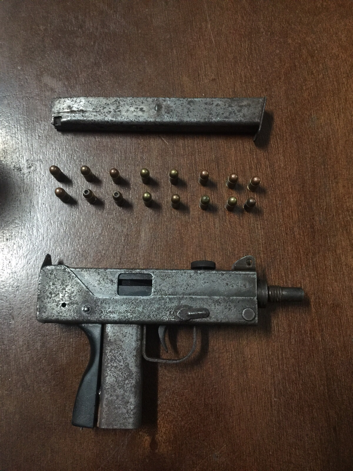 M-12 pistol and rounds seized during stop and search 03 January 2016