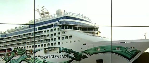 Cruise Ship Headed for St Kitts and Other Caribbean Islands